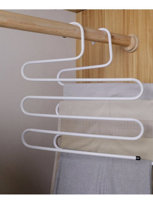 Вешалка для брюк, шарфов и полотенец металлическая