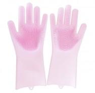 Многофункциональные силиконовые термостойкие перчатки для мытья посуды