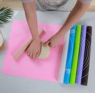 Силиконовый коврик для раскатки теста с разметкой 45х65 см