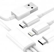 Cablu USB Ezra 3 in 1 (1.2m)